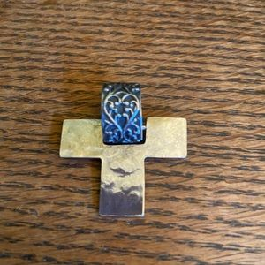 Silpada Sterling Silver Filigree Cross Pendant